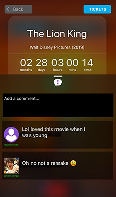 Movie Comment App